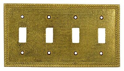 Harris Hardware (200/6) solid brass antique wall plate switch for four switches