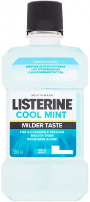 Listerine Mild Mint Zero Mouthwash, 250ml