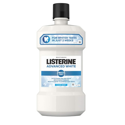 Listerine Advanced White Mouthwash Clean Mint, 1L