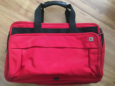 """Victorinox Red Nylon Expandable Duffle/Backpack Carry-On Travel Bag 21""""X12""""X12"""""""