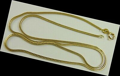 """Ladies 18"""" long 14K  Gold Square Link Necklace Chain  light weight"""