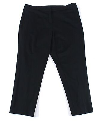 Vince Camuto Womens Pants Black Size 18W Plus Mid-Rise Solid Stretch $89- 479