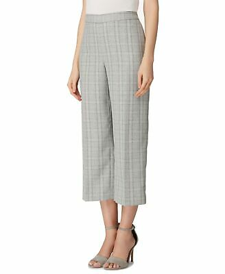 Tahari by ASL Womens Pants Gray Size 16 Cropped Straight Glen Plaid $89 468