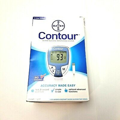 Bayer Contour Blood Glucose Monitoring System No Coding - 1 Kit Fast