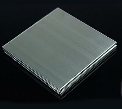 """US Stock 2pcs 0.4mm x 5"""" x 5"""" 304 Stainless Steel Fine Polished Plate Sheet"""