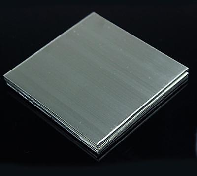 """US Stock 2pcs 0.6mm x 5"""" x 5"""" 304 Stainless Steel Fine Polished Plate Sheet"""