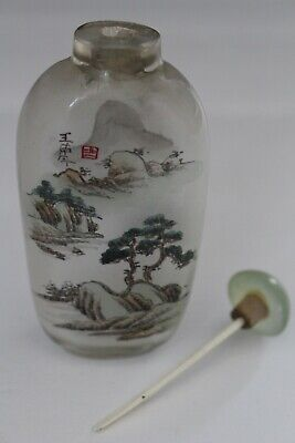 Vintage Hand Painted Asian Snuff Bottle