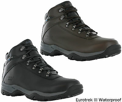Hi-Tec Eurotrek III Leather Walking Hiking Trail Waterproof Outdoor Boots Mens