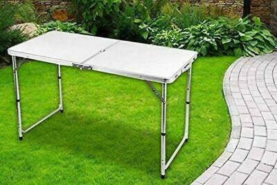 Heavy Duty 4ft Table Camping Folding Picnic Party Portable Trestle Catering BBQ