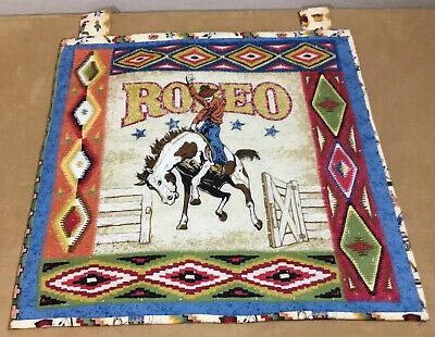 Western Quilt Wall Hanging. Rodeo, Cowboy, Horse, Southwest Prints, Hand Made