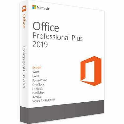 MS Office 2019 Pro Plus  32/64 bit 1 PC Genuine Key Instant Email Delivery