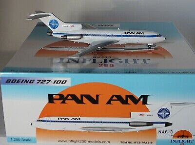 Inflight 200 If721Pa1219 Boeing 727-035 Pan Am  N4613 With Stand In 1:200