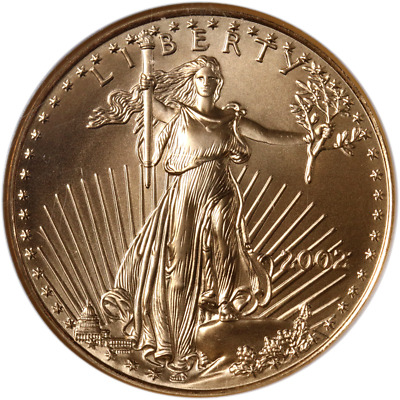 2002 Gold American Eagle $25 NGC MS69 Brown Label