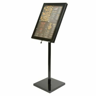 Security LED Info Display Unit Black 1200x650x100mm Coated Steel Information