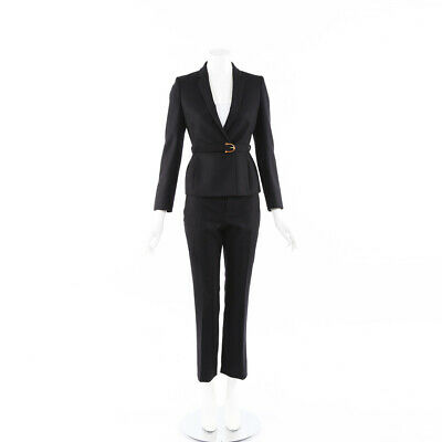Gucci Wool Cashmere Bamboo Pant Suit SZ 40