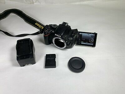 Black Nikon D5100 16.2mp Digital SLR Camera Body Guaranteed to work Perfect