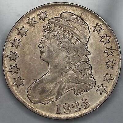 1826 Capped Bust Half Dollar 50C Xf Extra Fine (1006)