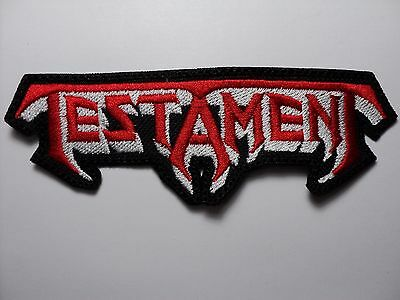 Testament Shaped Logo    Embroidered Patch