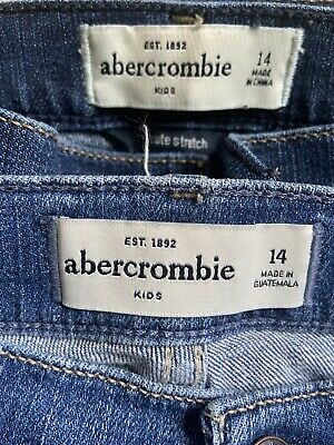 Abercrombie Kids Girls Skinny Jean Lot 2 Pair Size 14 Ripped  Pre-owned
