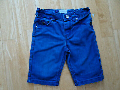 JASPER CONRAN boys dark blue denim jeans shorts AGE 4 - 5 YEARS EXCELLENT
