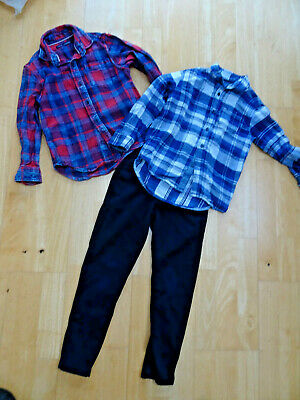 NEXT boys 3 piece clothes bundle shirts navy chino trousers AGE 5 YEARS