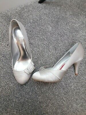 Silver Shoes Size 4 36 Monsoon Formal Wedding sparkly