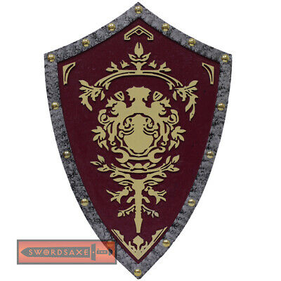Holy Templar Medieval Knight Coat of Arms Crusader Wooden Heater Shield Wall