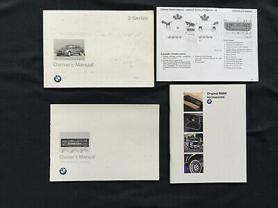 Bmw Official 3 Series Owners Manual Set 1996 Usa Edition Used