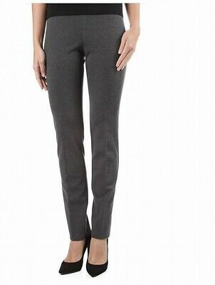 Ilusion Womens Pants Heather Gray Size 10 Pull-On Scuba Solid Stretch $89 889