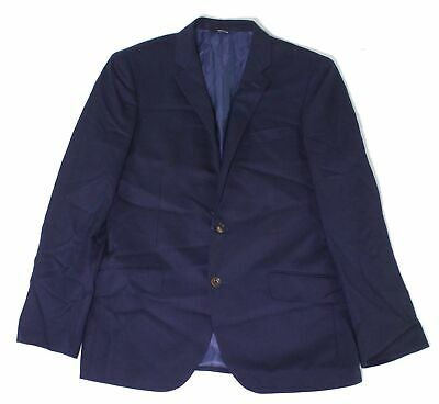 Reda Mens Suit Seperates Blue Size 42 Two Button Notched-Lapel Wool $100 960