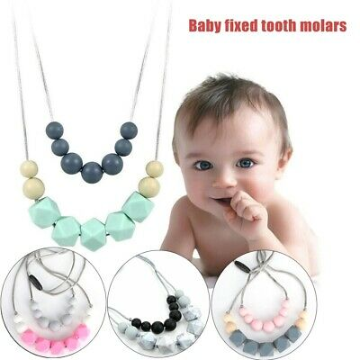 NOVELLA Baby teething necklace for Mom silicone teething beads toys BPA free