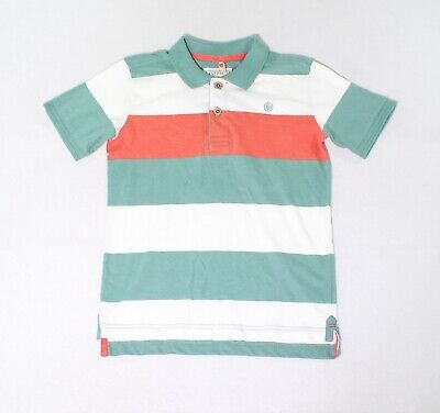 Fat Face Boys Shirts Green Size 8-9 Polo Striped Collared Short Sleeve $34 273