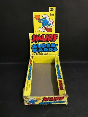 Smurf Super Cards Trading Card Vintage Box By Topps