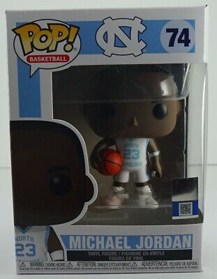 Funko Pop Michael Jordan UNC North Carolina Basketball Lot 2 Pieces #74 & #75.