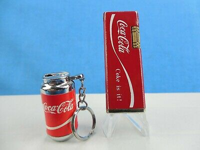 2 Vintage Coke Lighters -Tall Lighter Is From Korea - Small Is Generic Key Chain