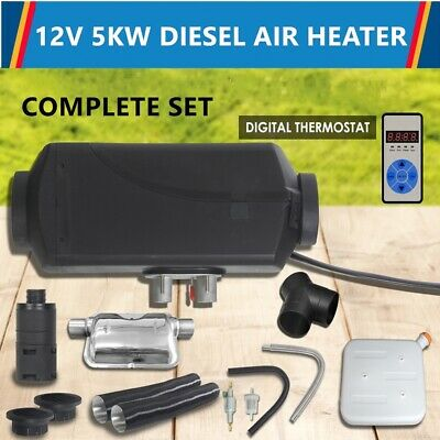 Air Diesel Heater Caravan Motorhome Trailer RV Thermostat Remote Control 12V 5KW