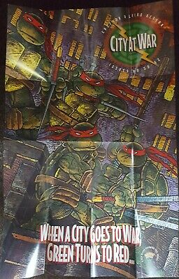 Teenage Mutant Ninja Turtles Stadt At War Promo Plakat + Innen Comics #2 Mag