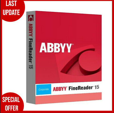 ABBYY FineReader Corporate 15✔️OCR PDF EDITOR Scanner✔️Life Time✔️Fast Delivery✔