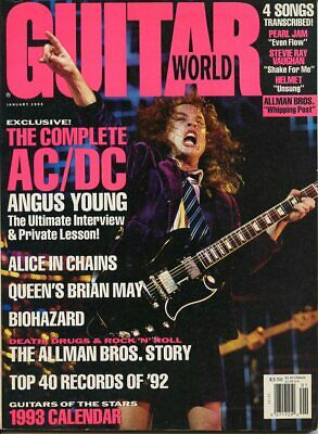 Angus Young The Complete Ac/Dc The Allman Brothers Guitar World Jan 1993 A1475