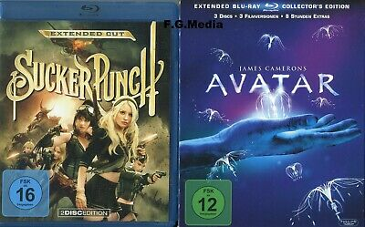 Blu Ray Avatar - Collectors Edition + Sucker Punch - Sci Fi - James Cameron
