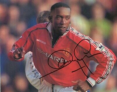 Dwight Yorke Autograph, Manchester United, Football, Soccer