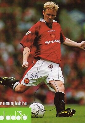 David May Autograph, Manchester United, Football,Soccer