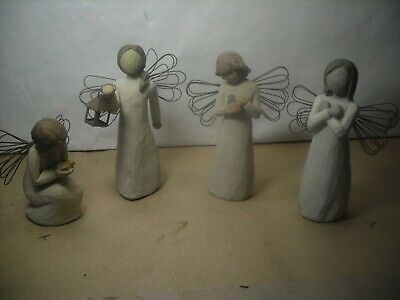 4 Willow Tree Angels  Figurines