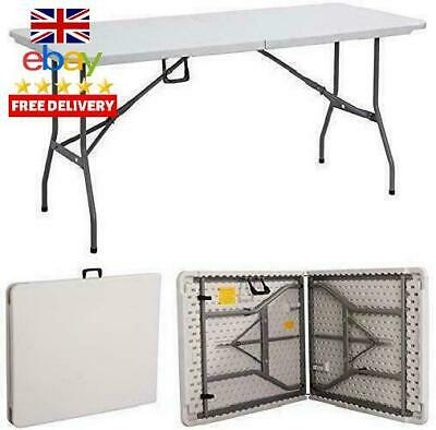 Gr8 Garden New Compact Foldable 6Ft Heavy Duty Folding Catering Camping Trestle