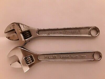 "Adjustable Wrenchs.  8 "" Fuller and 8"" Utica.Drop Forged Hand Tools.No. 8"