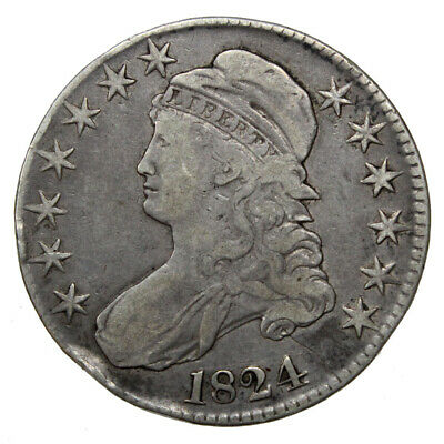 1824 50C Capped Bust Silver Half Dollar