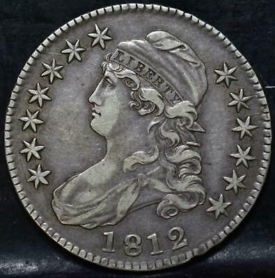 1812 Capped Bust Half Dollar Id#Hh208