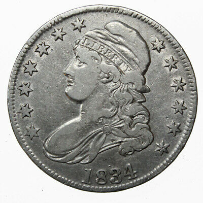 1834 50C Capped Bust Silver Half Dollar