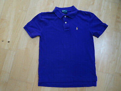 RALPH LAUREN POLO boys purple polo t shirt top AGE 10 - 11 YEARS ( 10 - 12 )