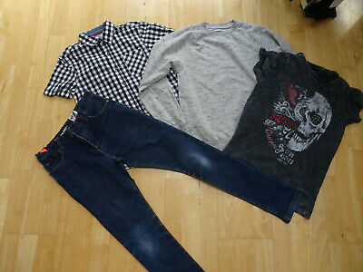 NEXT boys 4 pack jeans shirt jumper t shirt AGE 10 - 11 YEARS EXCELLENT COND